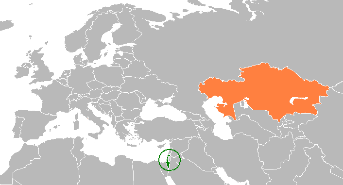 Isreal On World Map.Israel Kazakhstan Relations Wikipedia