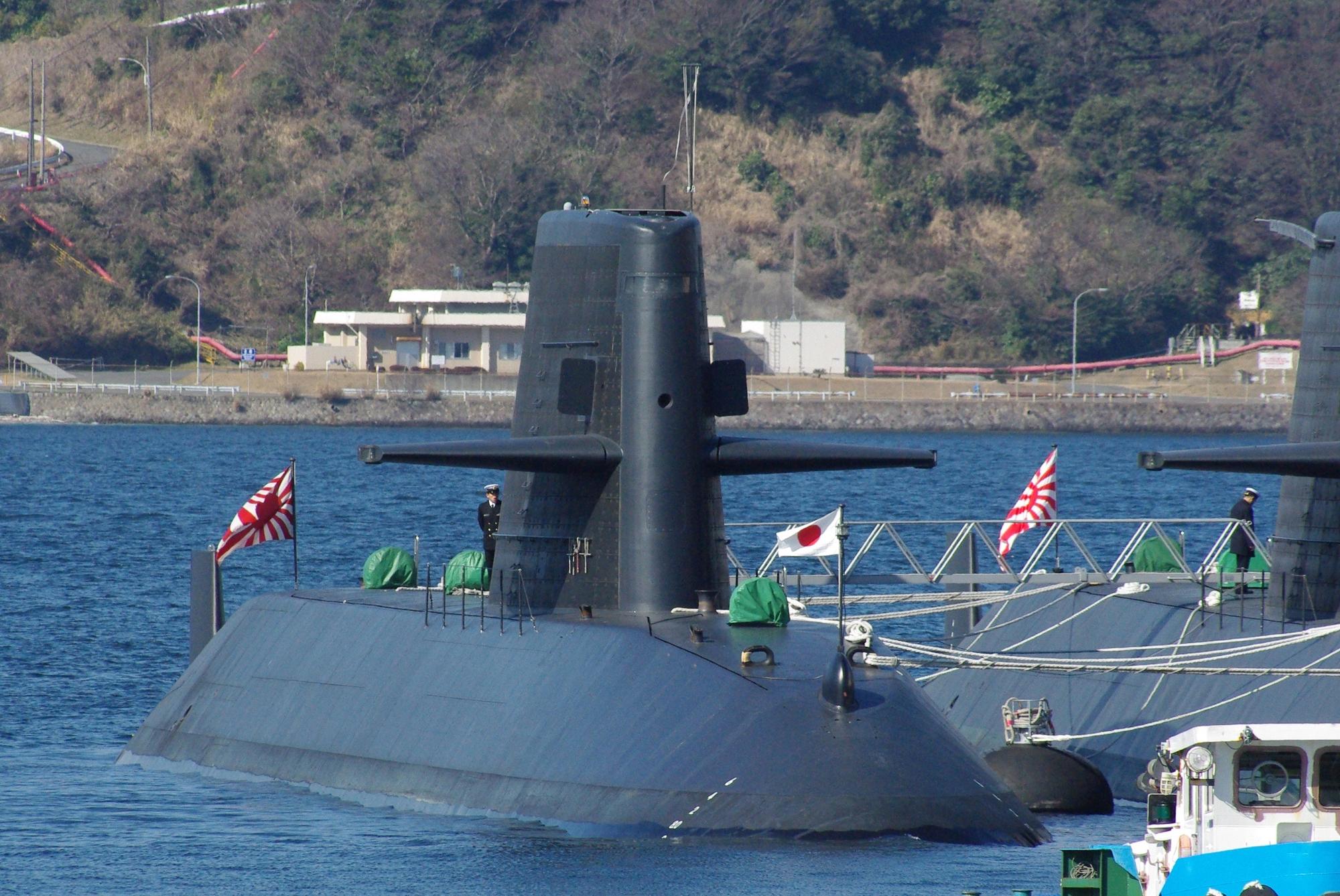 SM Oyashio 1/700e JMSDF_Oyashio_class_submarine_20090208-1