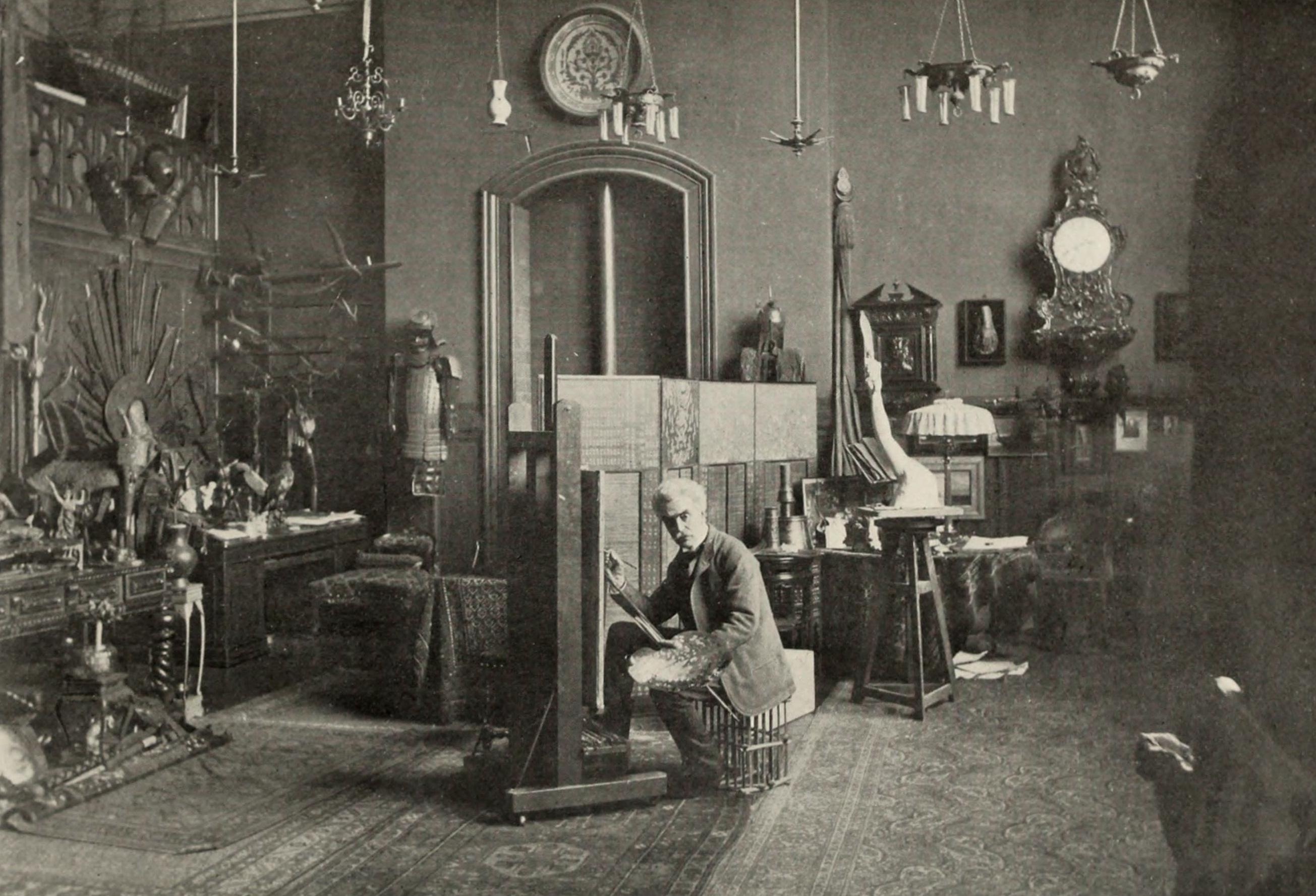 File:Jean-Léon Gérôme in his Studio.jpg
