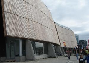 Katuaq, el Centro Cultural de Nuuk.
