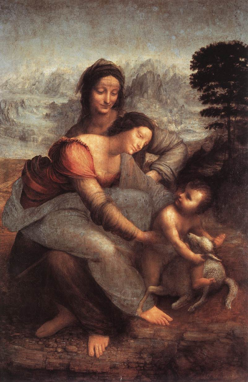1513 / The Virgin and Child with St. Anne by Leonardo da Vinci