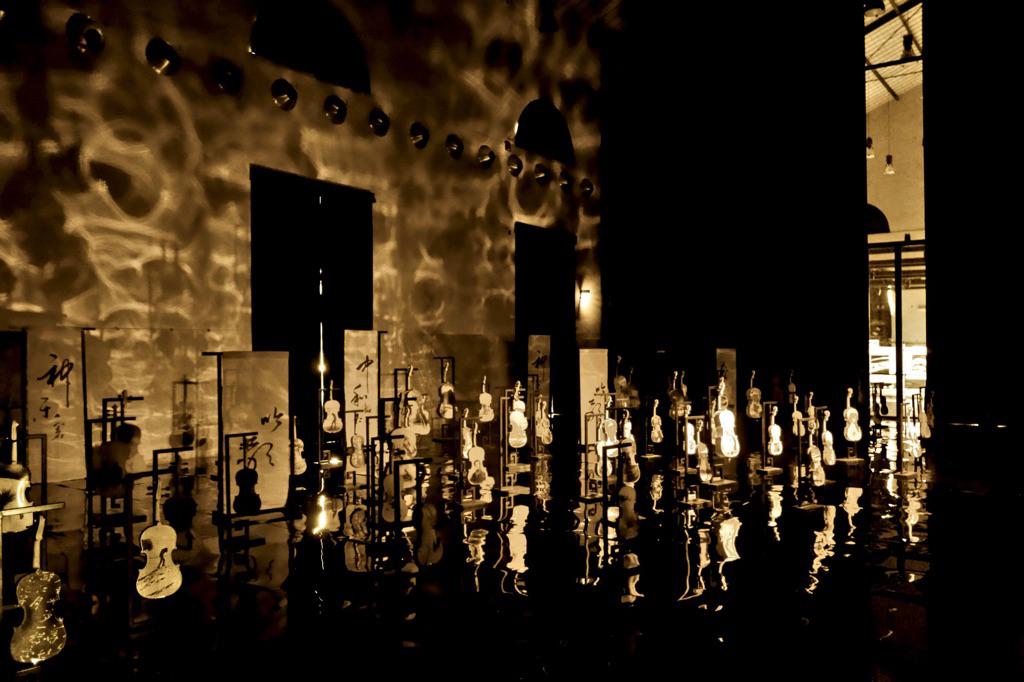 Installation de l'artiste Li Chevalier au Macro Testaccio de Rome - Photo d'Apalc1961