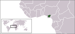 Nri's area of influence (green) with West Africa's modern borders