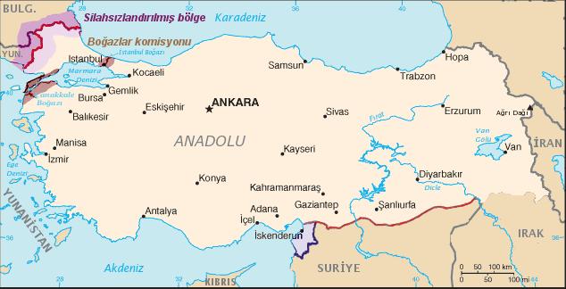 lozan antlaşması haritası ile ilgili görsel sonucu