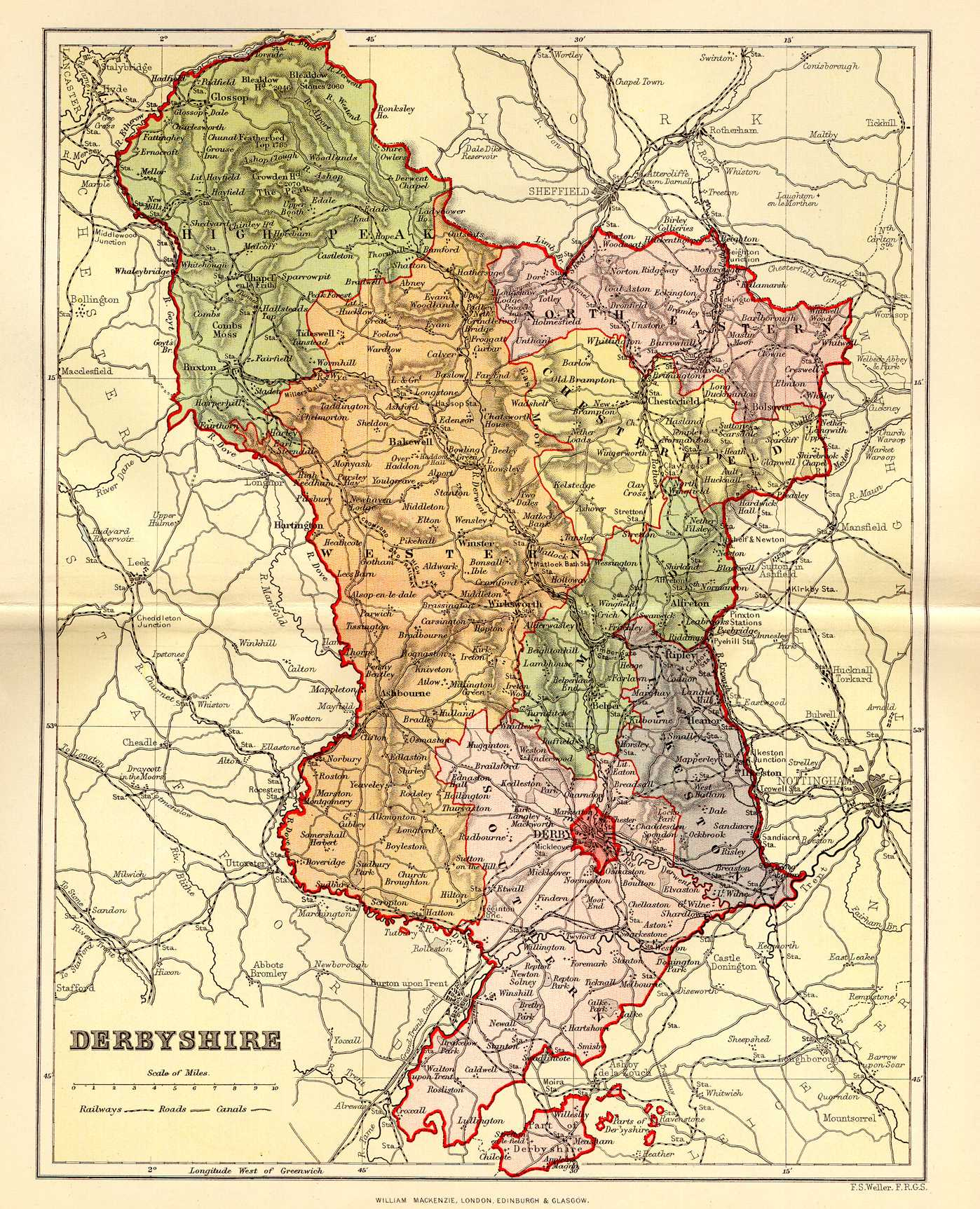 File Map Of Derbyshire C 1894 Jpg Wikimedia Commons
