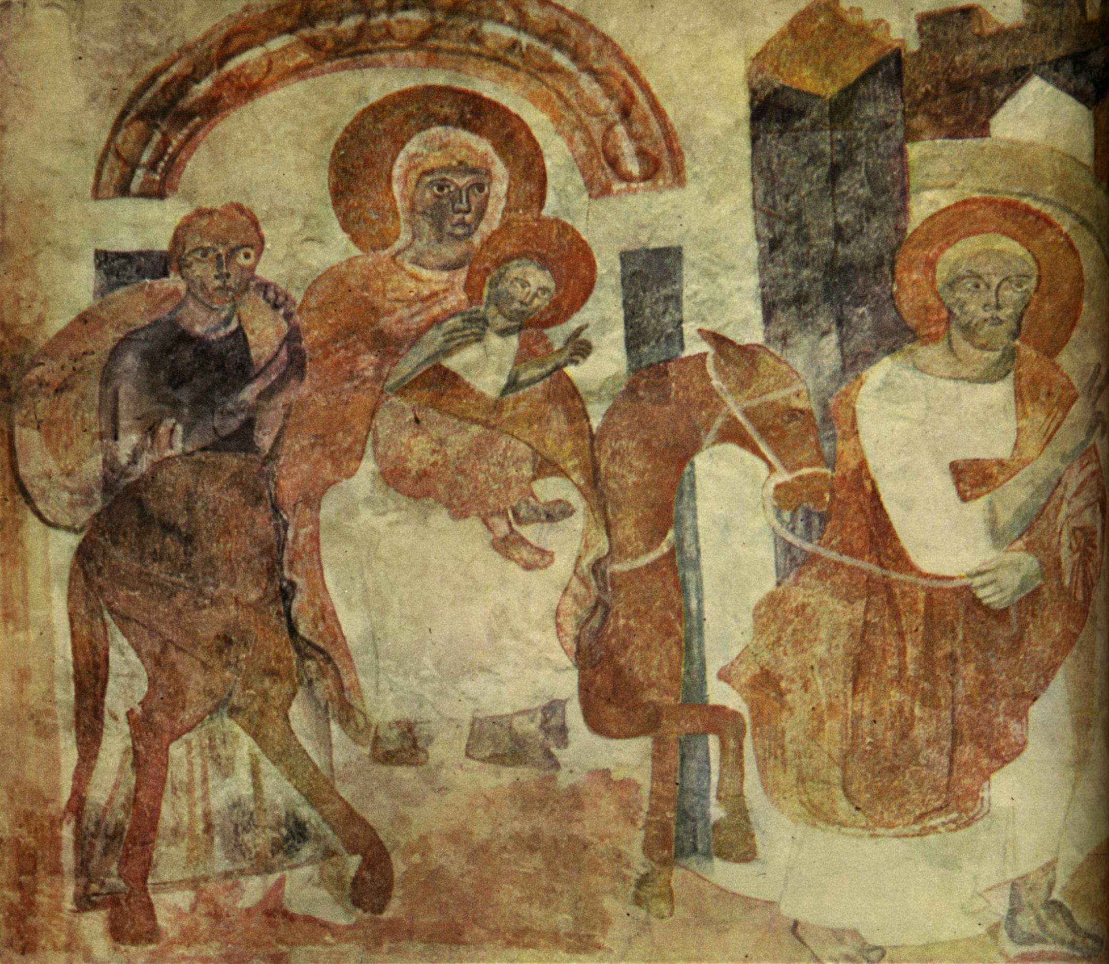 Carolingian Fresco of the Flight to Egypt