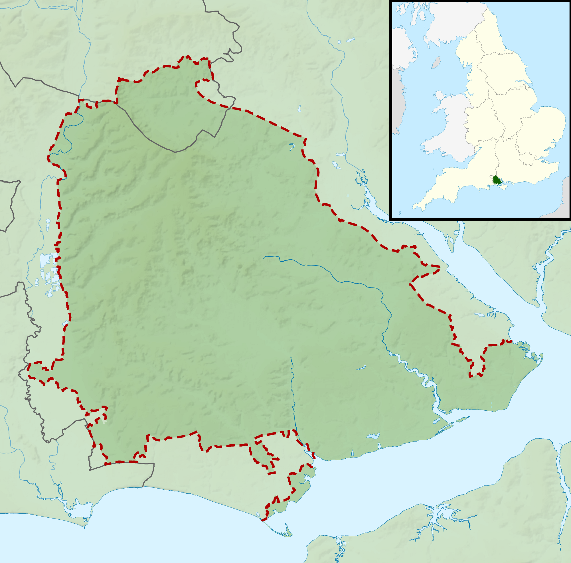 FileNew Forest National Park UK relief location mappng