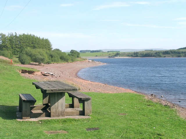 North shore of the Usk reservoir - geograph.org.uk - 236457