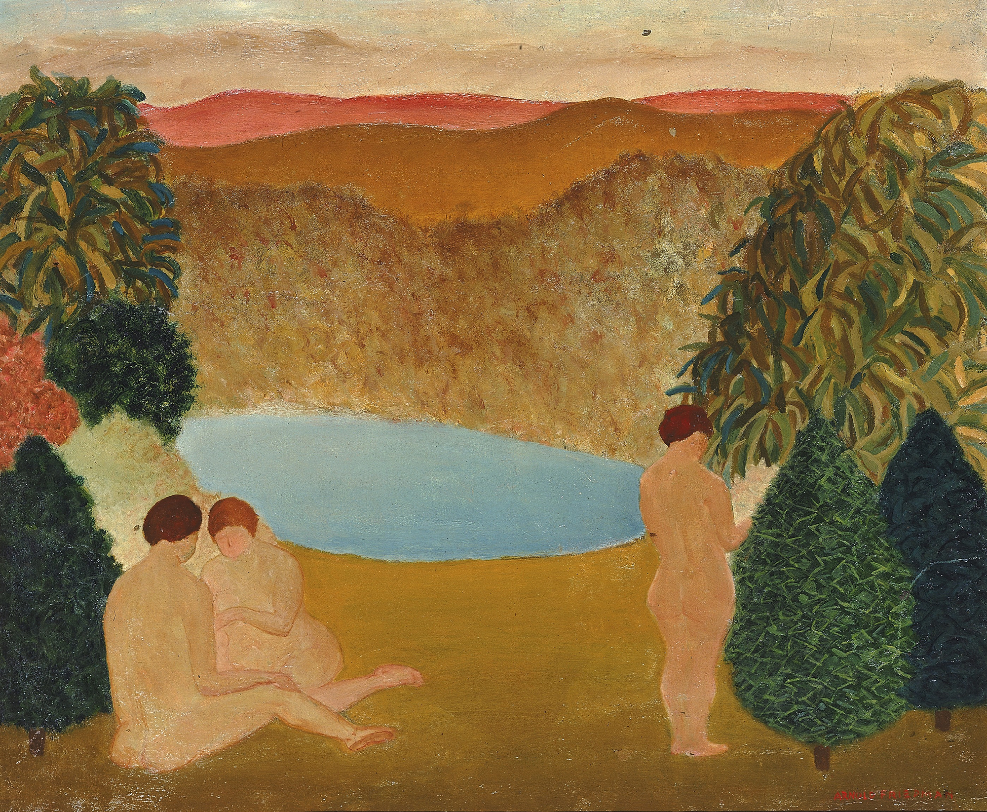 Arnold Friedman, Nudes in Landscape, ca. 1882 and 1946, Smithsonian American Art Museums,