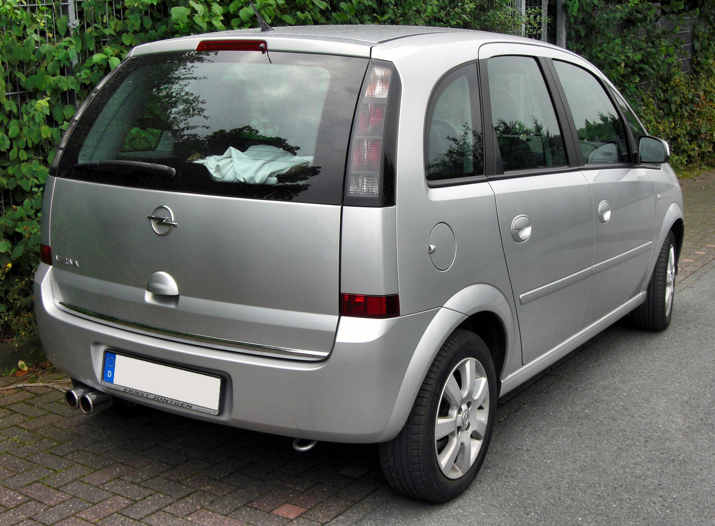 file opel meriva facelift 20090812 rear jpg wikimedia commons. Black Bedroom Furniture Sets. Home Design Ideas