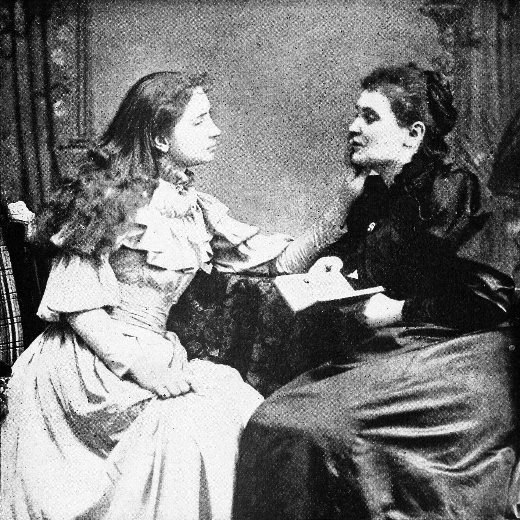 Helen Keller with her teacher Anne Sullivan - ThingLink
