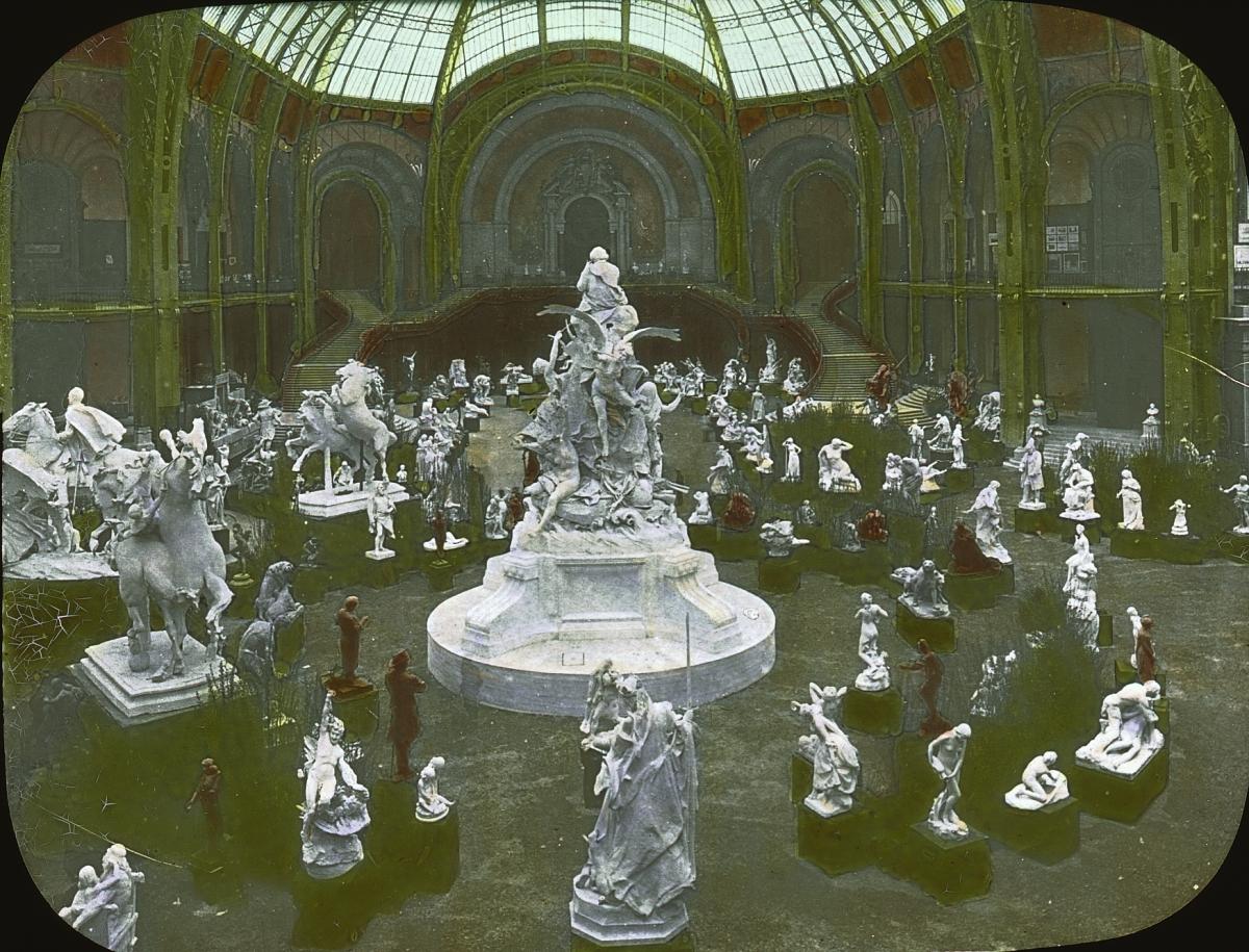 File paris exposition grand palais paris france 1900 wikimedia commons - Expo le grand palais ...