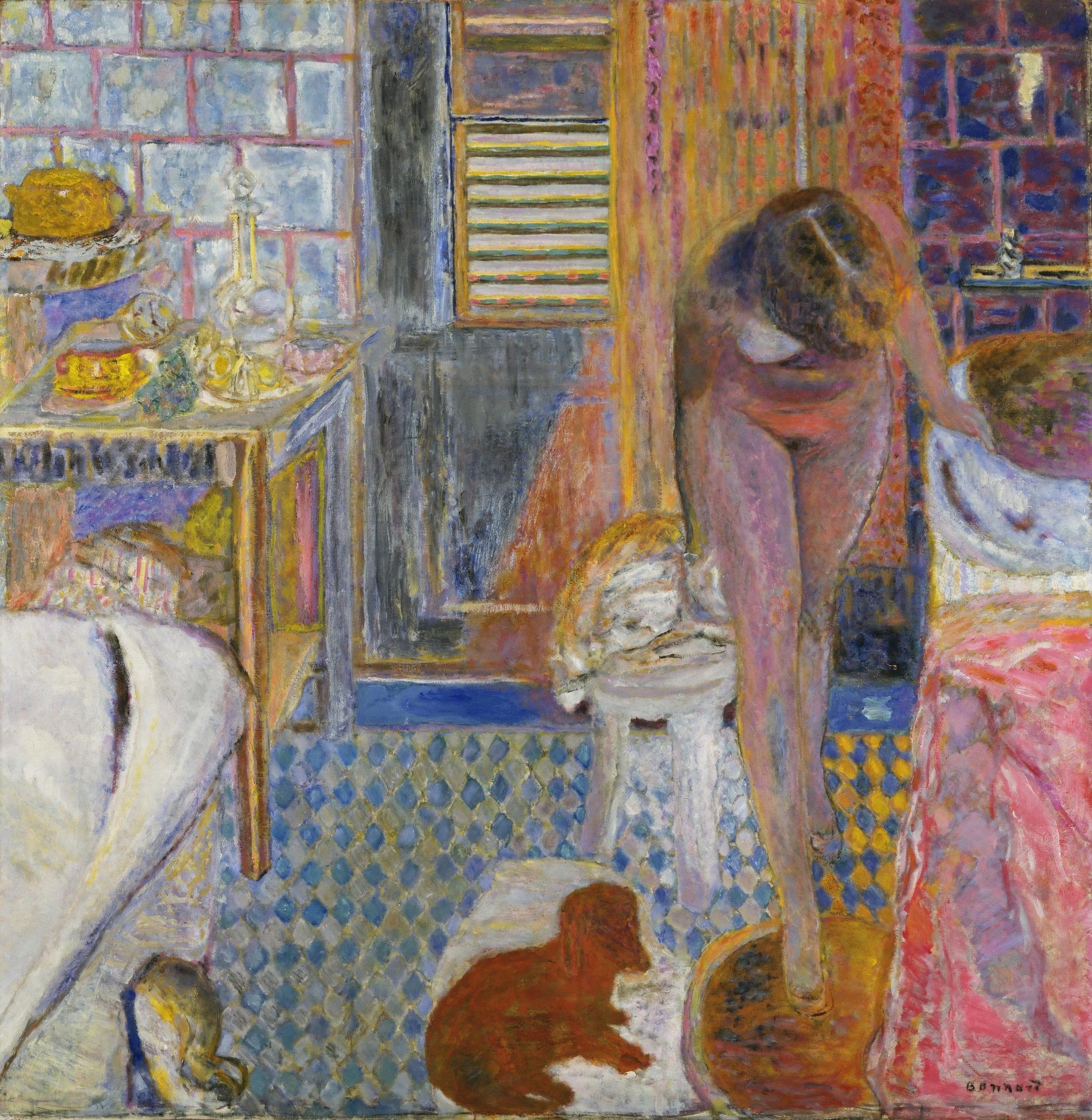 * une toile sur la toile * - Page 15 Pierre_Bonnard%2C_1932_-_The_Bathroom