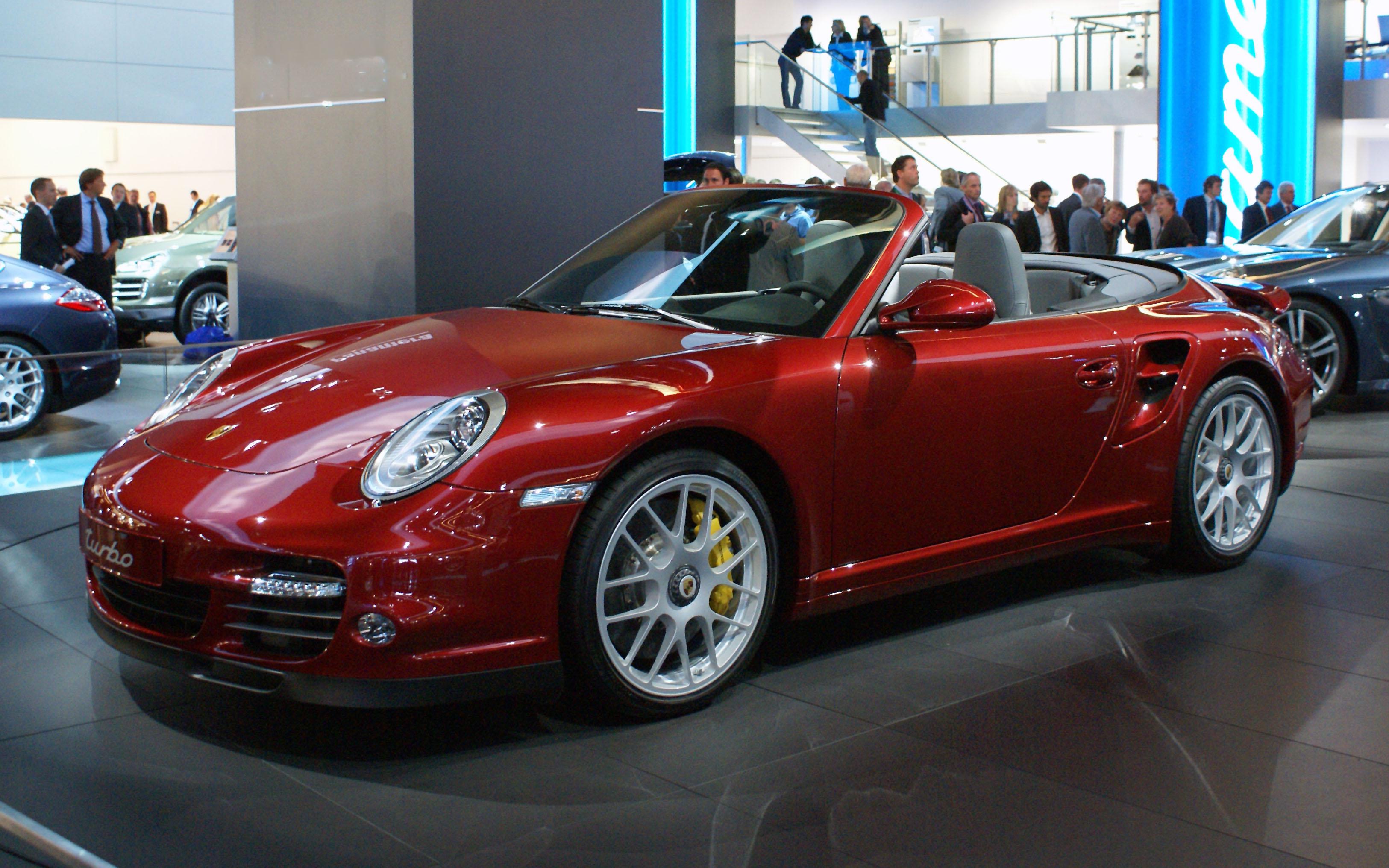 File Red Porsche 997 Turbo Cabrio Facelift Fl Iaa 2009