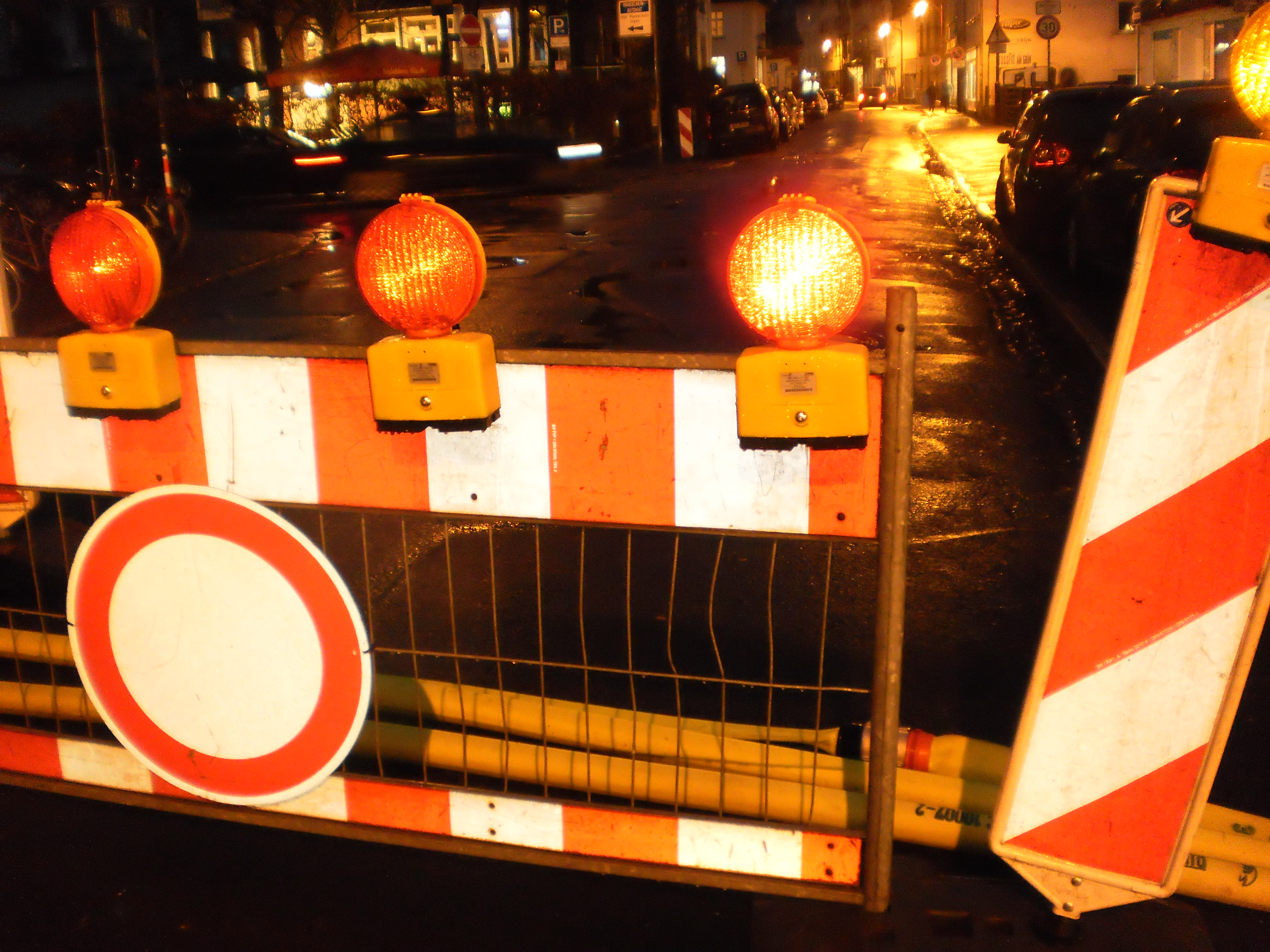File Road Barrier In Marburg For Pumping Tubes Water In A