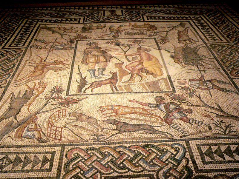 File:Roman mosaic floor LosAngeles County Museum California.jpg ...