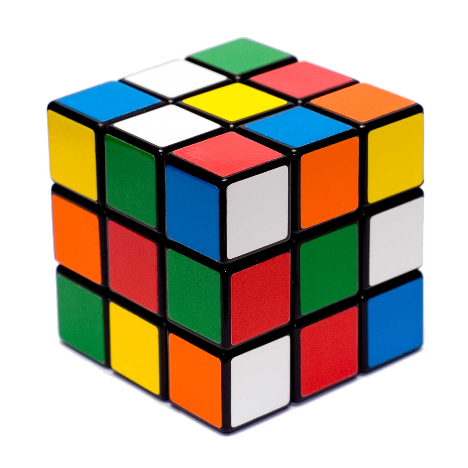 Open source image of a scrammbled Rubik's Cube