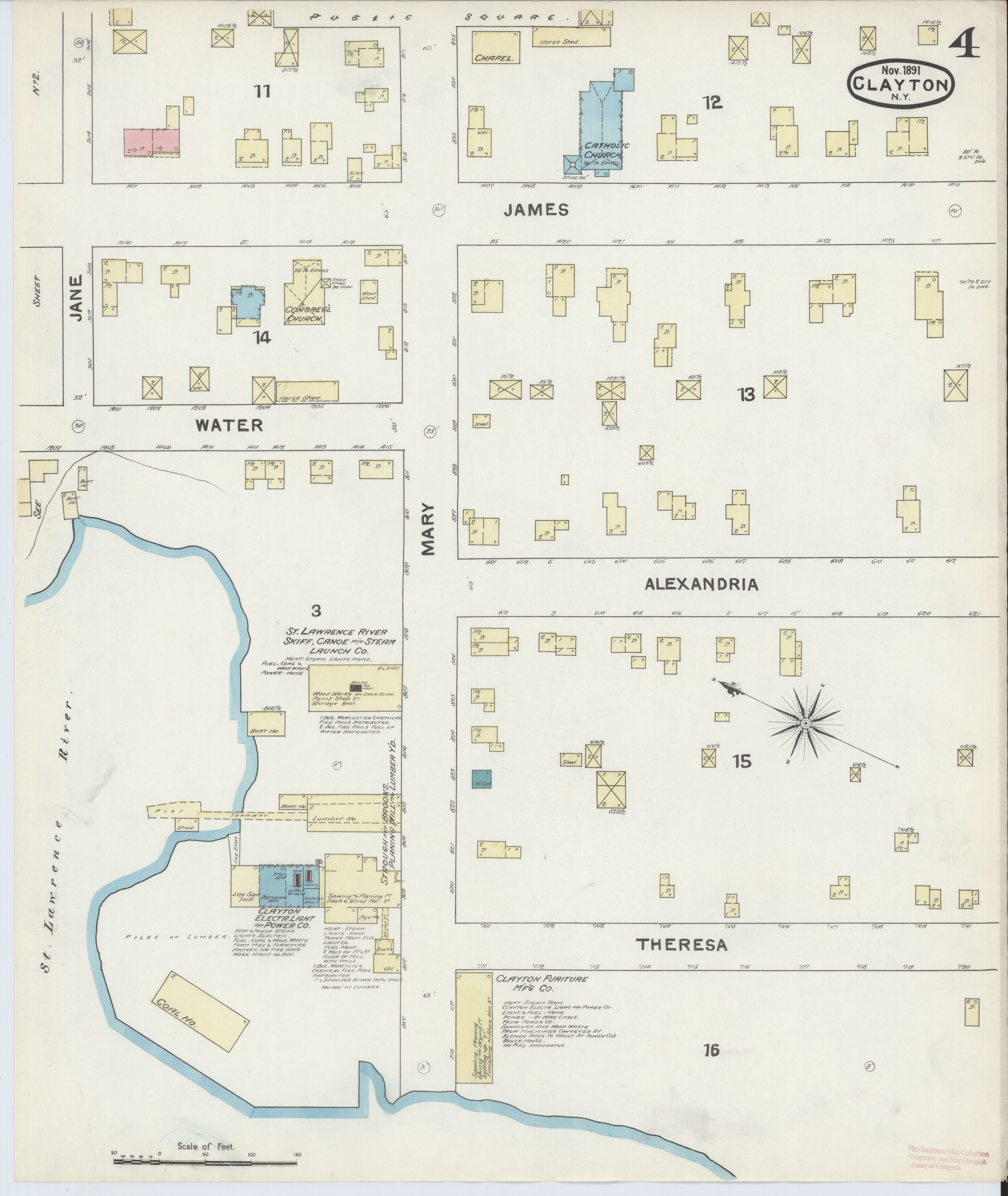 File:Sanborn Fire Insurance Map from Clayton, Jefferson County, New on