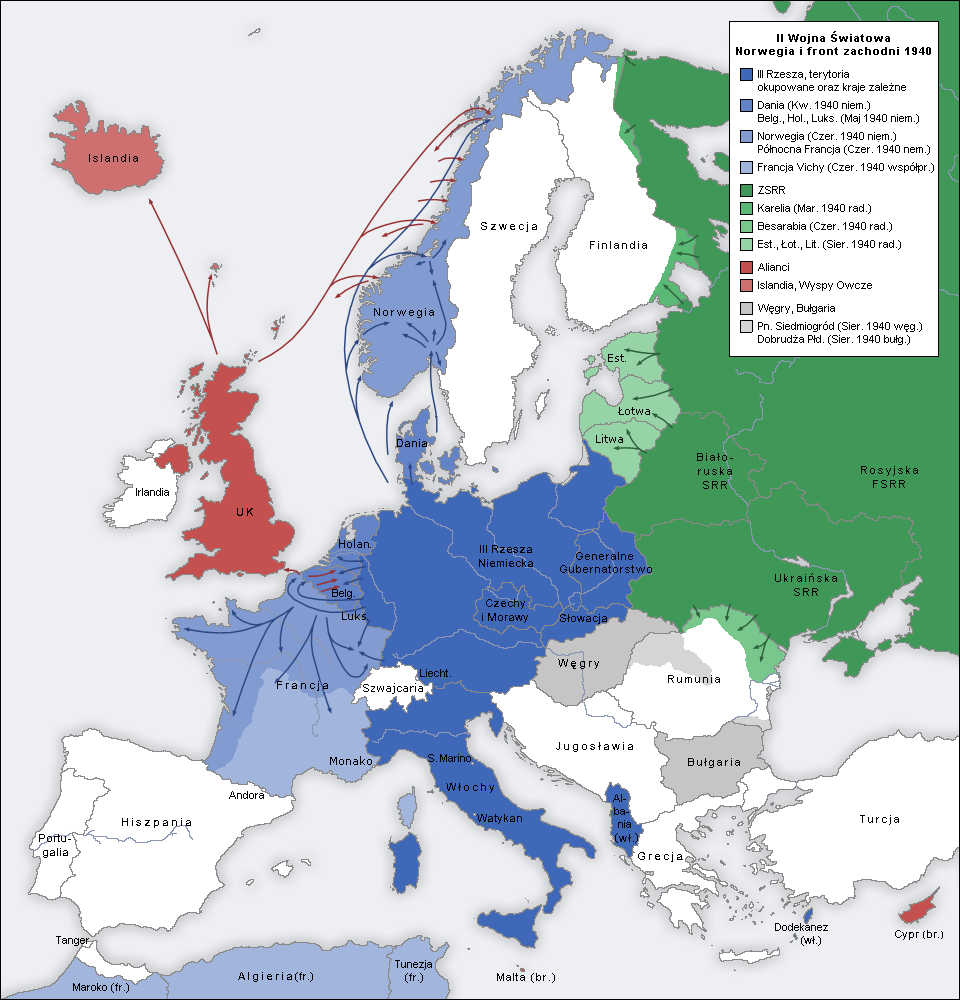File:Second world war europe 1940 map pl.png - Wikimedia Commons