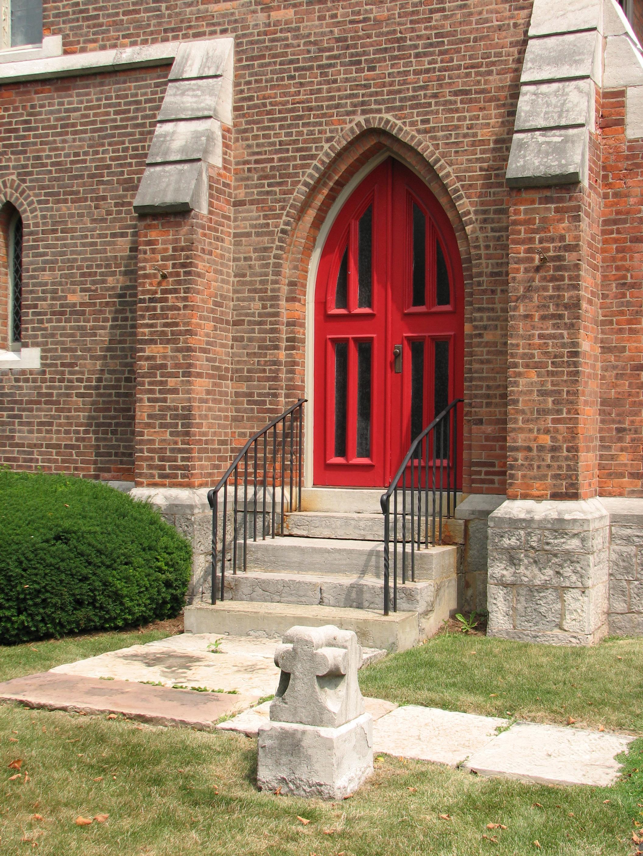 Filest Michaels Episcopal Church Geneseo New York Red Doorg