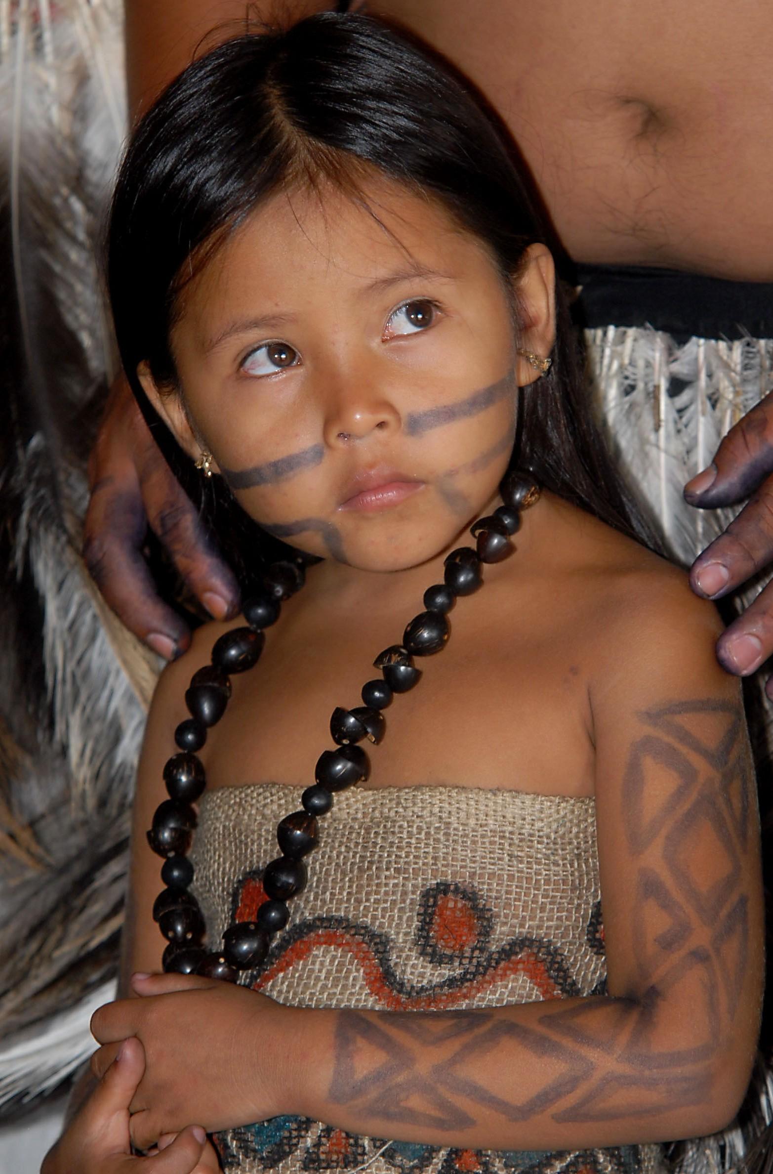 Niña de etnia Terena, Brasil, 2007 (wikipedia.org)