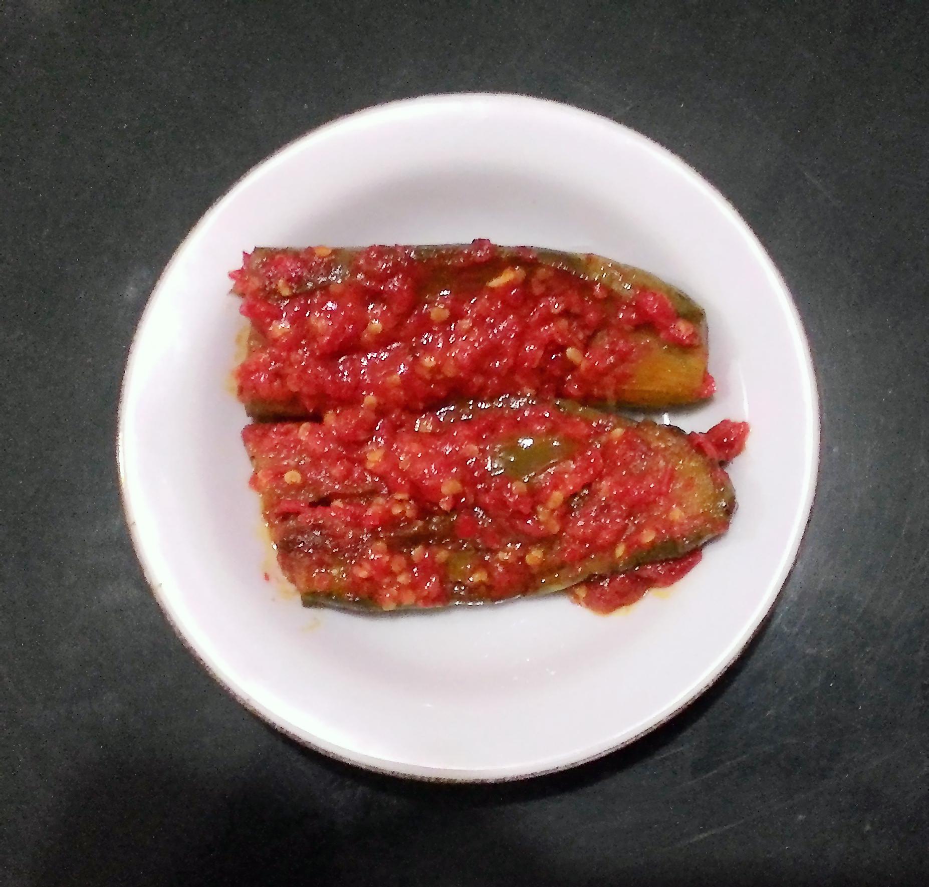 Balado Food Wikipedia Kacang Ayu 250gram By Bali Terong Eggplant