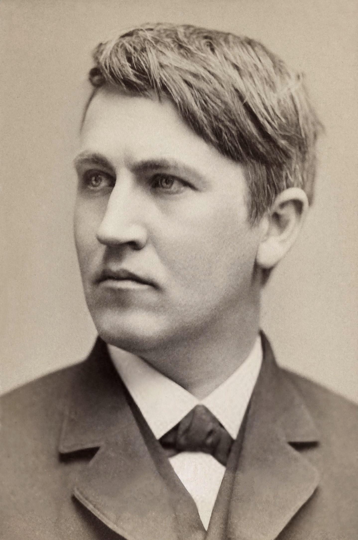 حقائق ربما لاتعرفها Thomas_Edison,_1878.