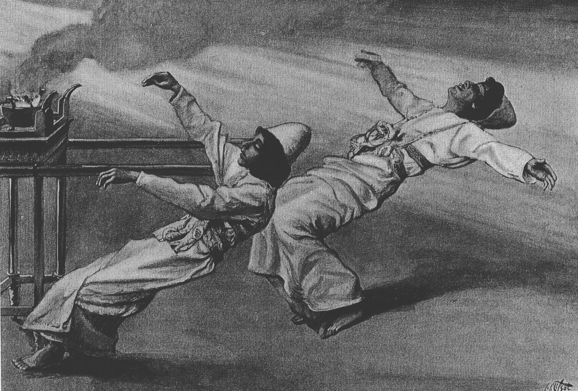 """""""עונש נדב ואביהוא"""", ציור מעשה ידי ג'ימס טיסו משנת 1896"""