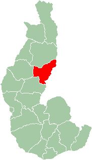 Map of former Toliara Province showing the location of Beroroha (red).