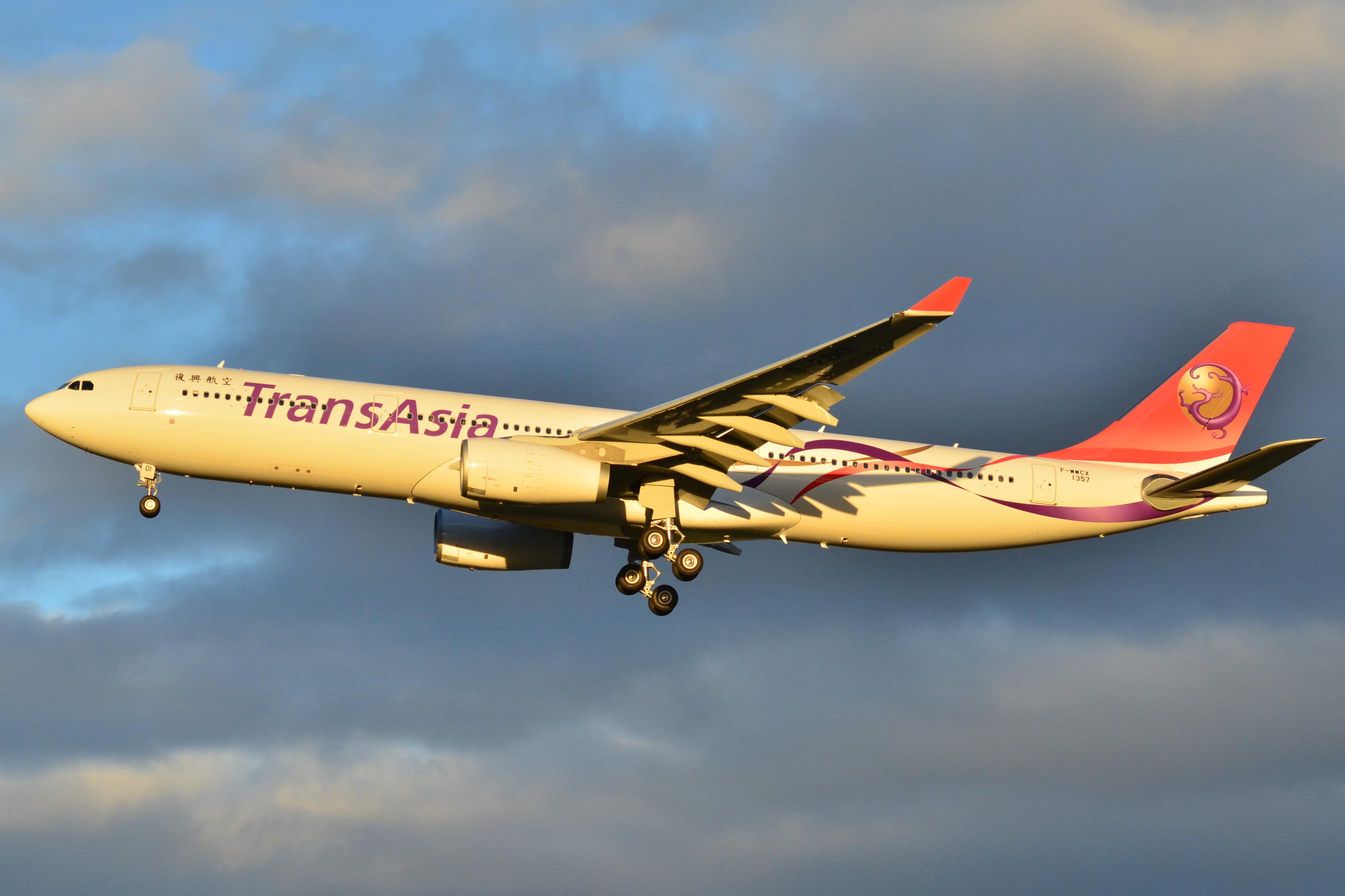 File:TransAsia Airbus A330 - F-WWCX - MSN 1357 (10332182913).
