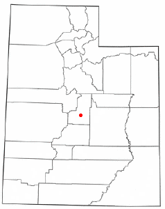 Location of Manti, Utah