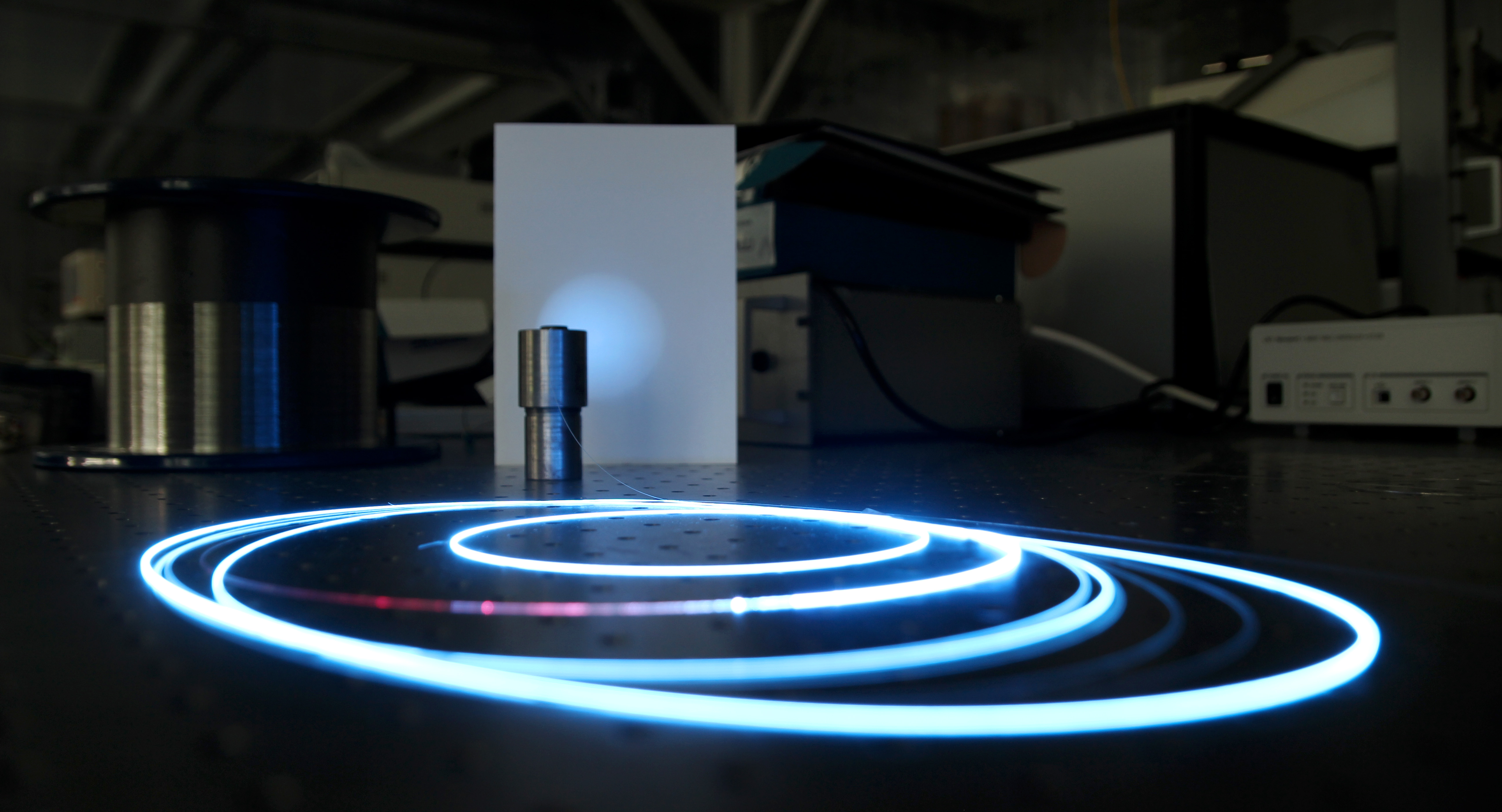 Shines with a blue color in the dark laser physics lab ntnu nt