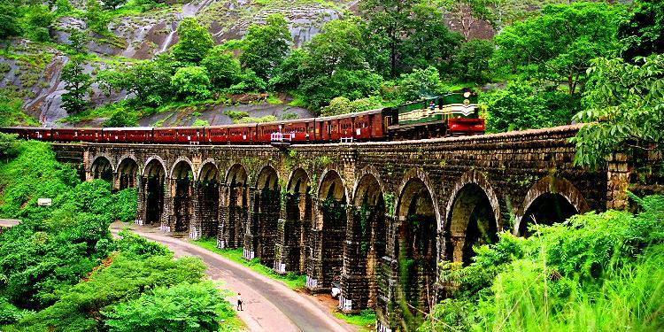 13 Arch bridge Kazhuthurutty Kerala