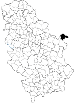 kladovo mapa srbije Opština Kladovo   Wikipedia kladovo mapa srbije
