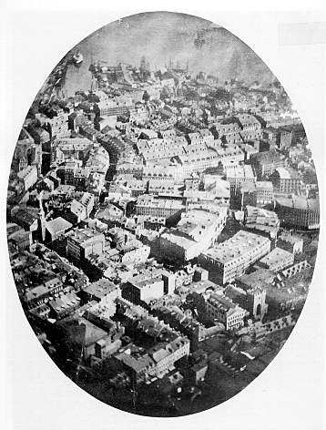 """Boston as the Eagle and the Wild Goose See It"" Courtesy of: http://en.wikipedia.org/wiki/File:Aerial_photograph_of_Boston,_1860.jpg"
