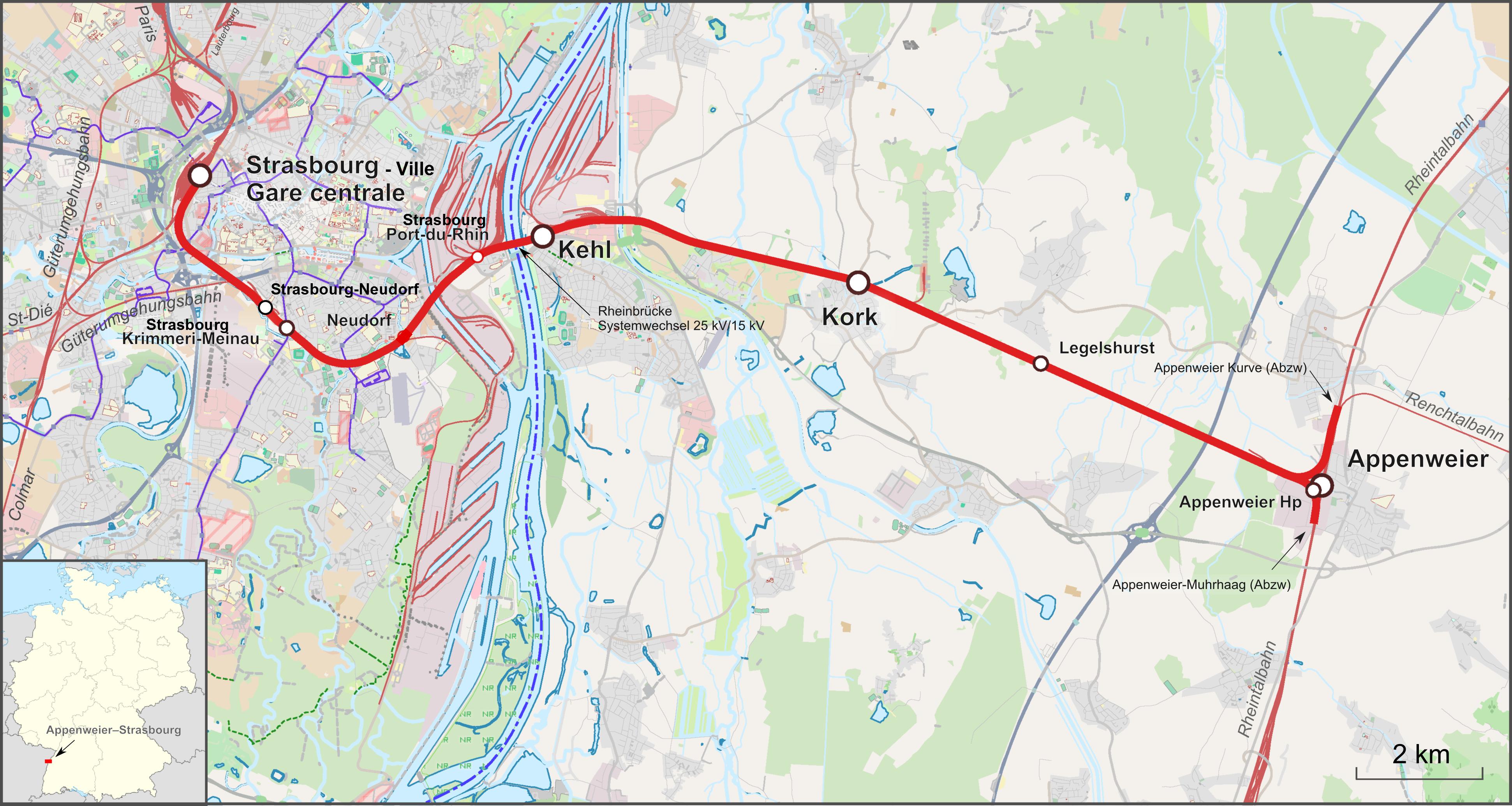 Bahnstrecke Appenweierstrasbourg Wikipedia