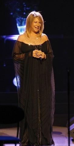 Barbra Streisand performing in July 2007 at The O2 Arena in London