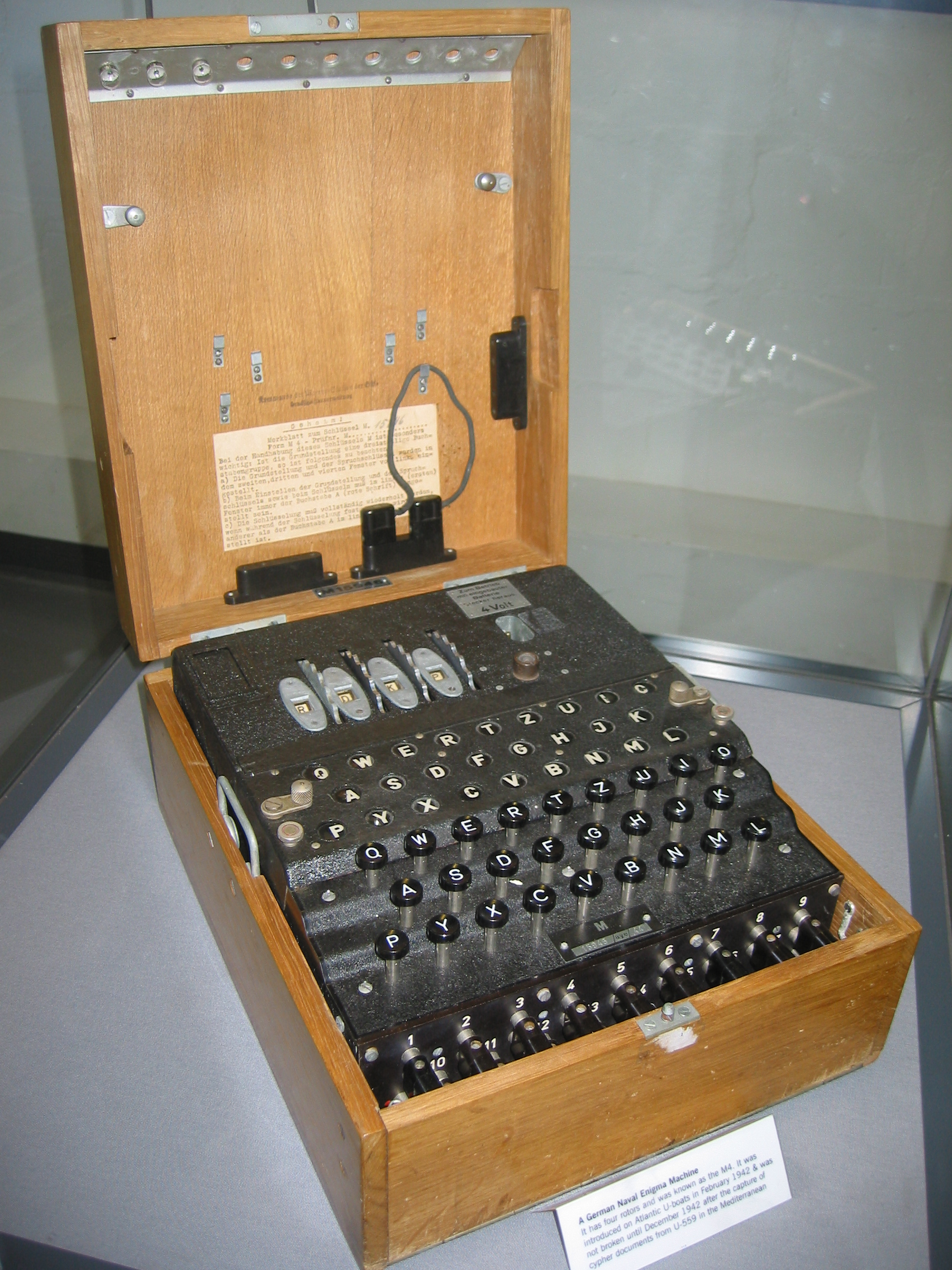 the enigma machine and how it A complete wwii german enigma machine — the sender's keyboard and the  receiver's — is on display in the fine and rare book room at.