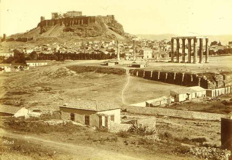Príncipe JORGE DE GRECIA (y Dinamarca) Bonfils,_F%C3%A9lix_(1831-1885)_-_Athens_-_Acropolis_about_1868-1875