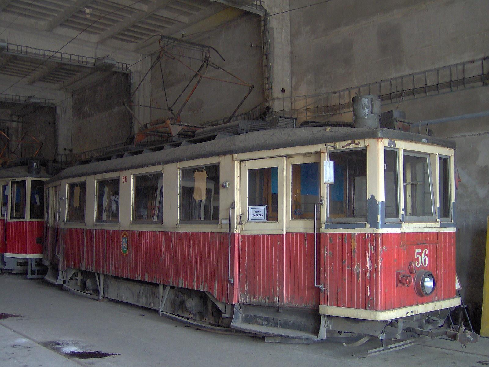 Brno, Líšeň, depozitář MHD, MV ev. č. 56 (Ostrava).jpg