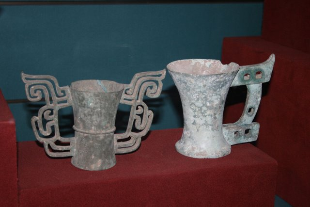 Bronze_cups,_Zhou_Dynasty - 1880: The Chinese in Tagbilaran Were Already Part of the Body Politic - Bohol Directory