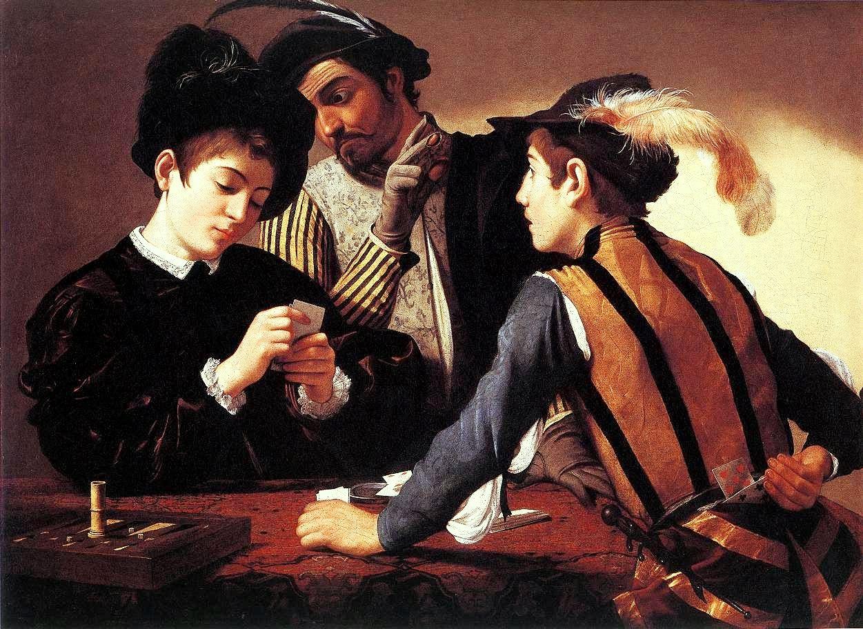 LO SCIOCCO (una storia da raccontare ) Caravaggio_-_I_bari