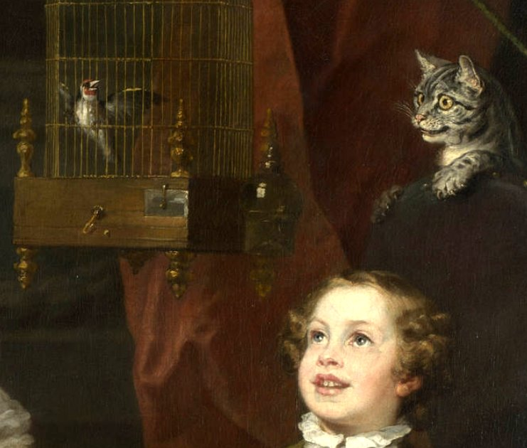 Moggy Thread 3 - Page 10 Cat_and_bird%2C_The_Graham_Children%2C_Hogarth