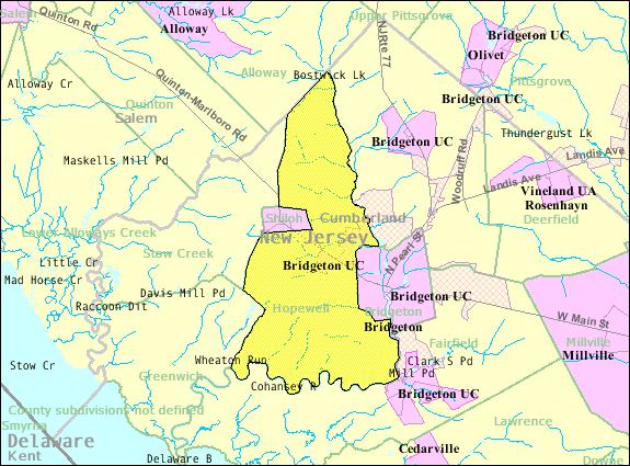 Filecensus Bureau Map Of Hopewell Township Cumberland County: Cumberland County Nj Map At Slyspyder.com