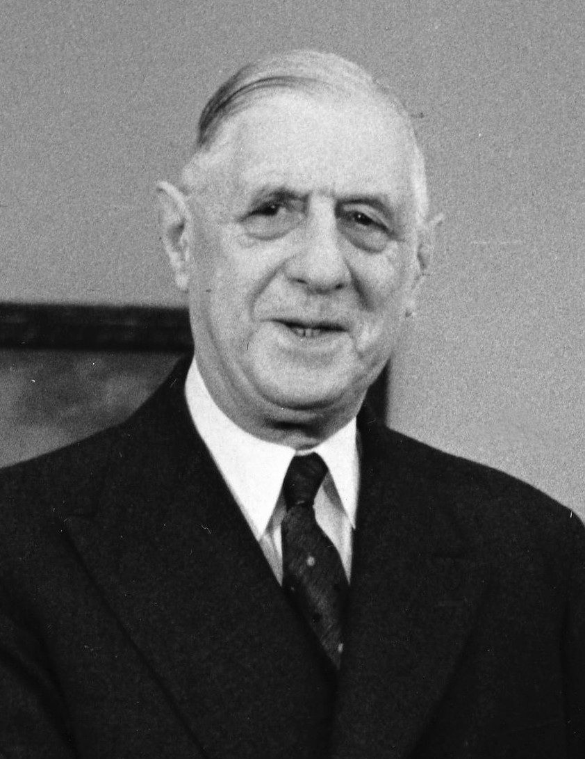 French President Charles de Gaulle in 1963