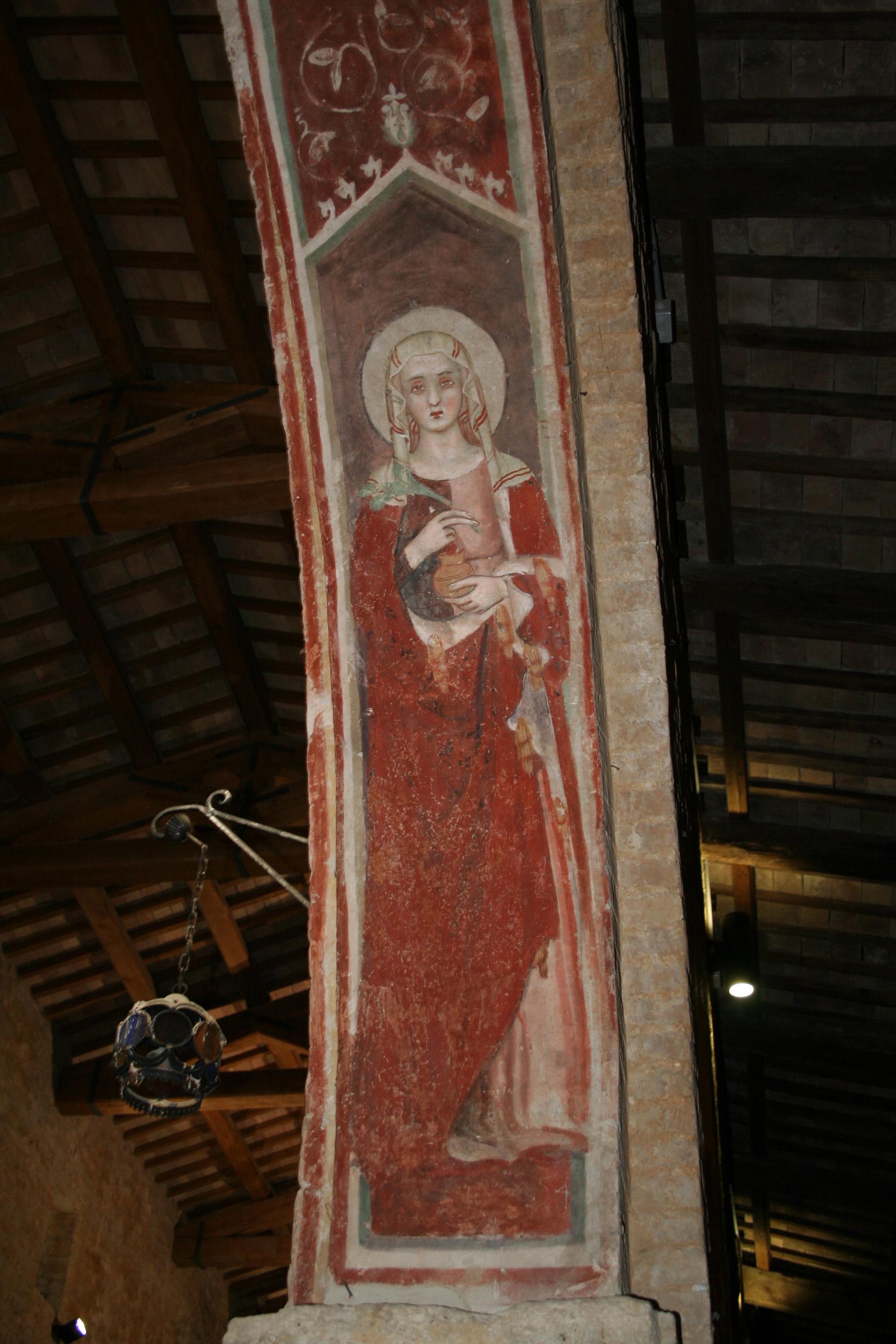 Freske av Illuminata i kirken San Salvatore i Canzano i provinsen Teramo i regionen Abruzzo