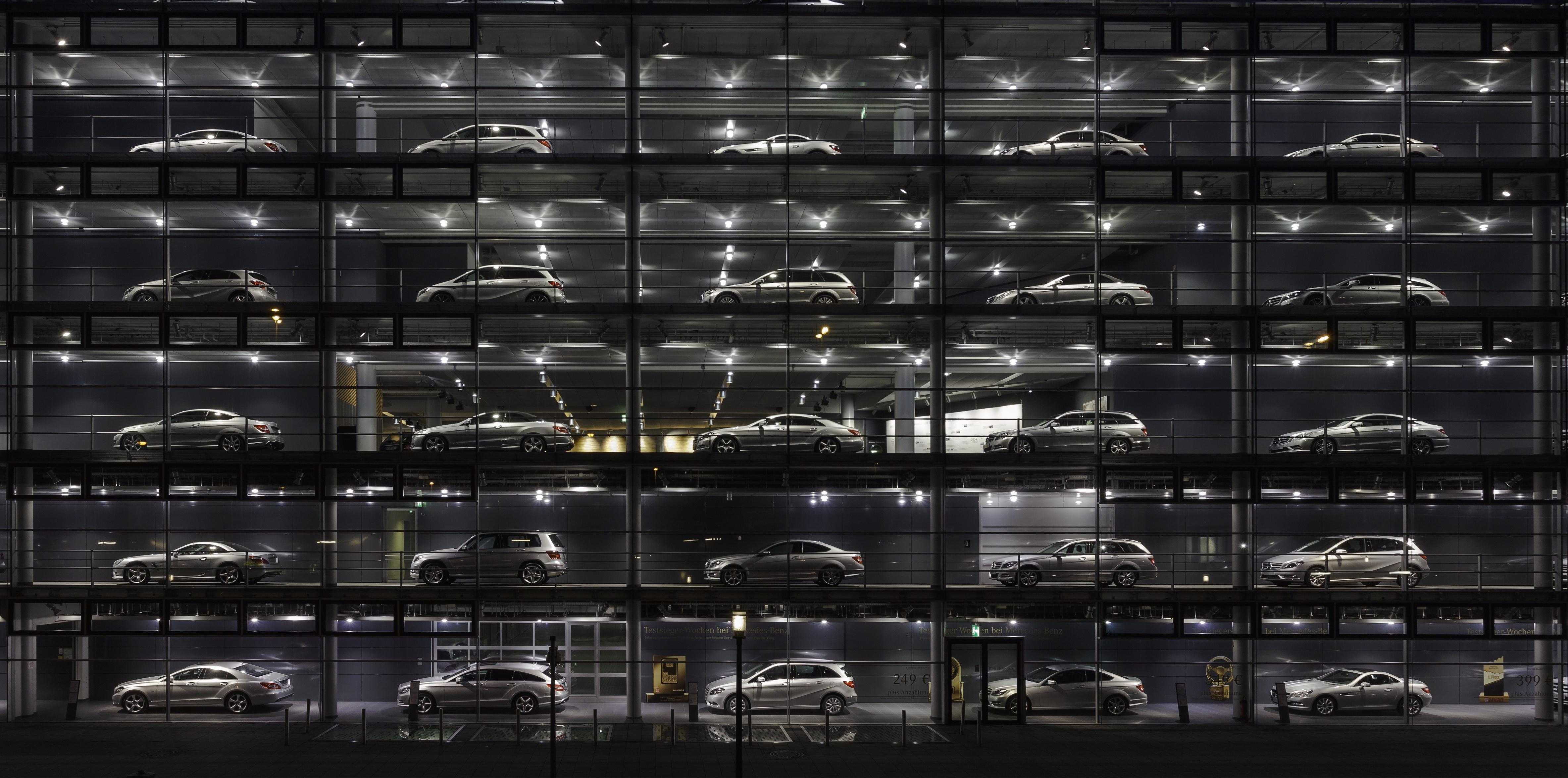 dealership showroom of the car-maker mercedes-benz in munich