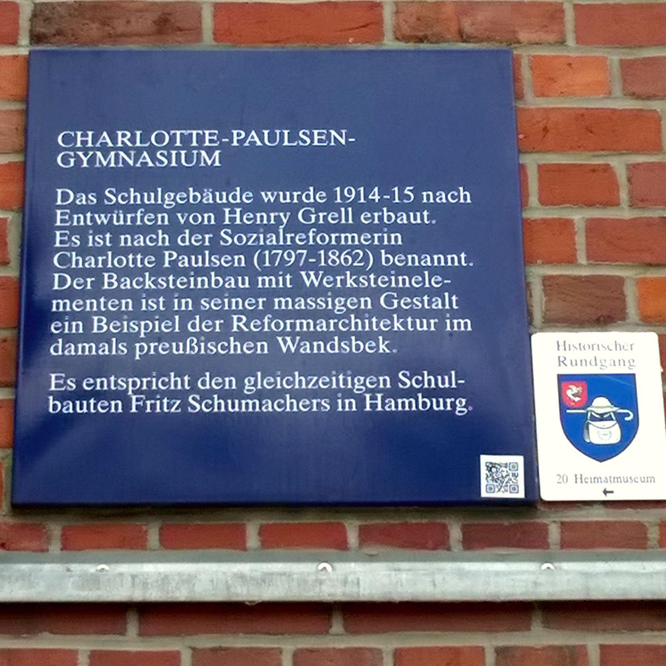 Paulsen Hamburg file denkmaltafel paulsen gymnasium wandsbek jpg
