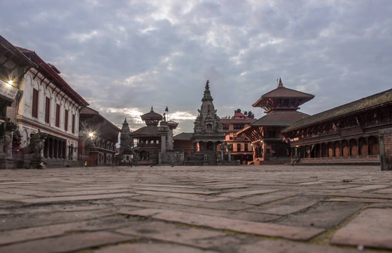 Early morning view of Bhaktapur Durbar Square