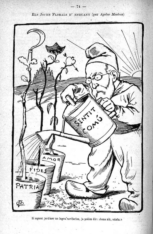 Caricatura en el <em>Almanach de La Esquella de la Torratxa</em> (1902)